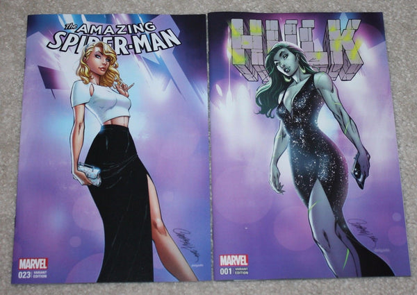 AMAZING SPIDER-MAN #23 HULK #1 J SCOTT CAMPBELL GOLD VIRGIN EXCLUSIVE VARIANT 6-PACK