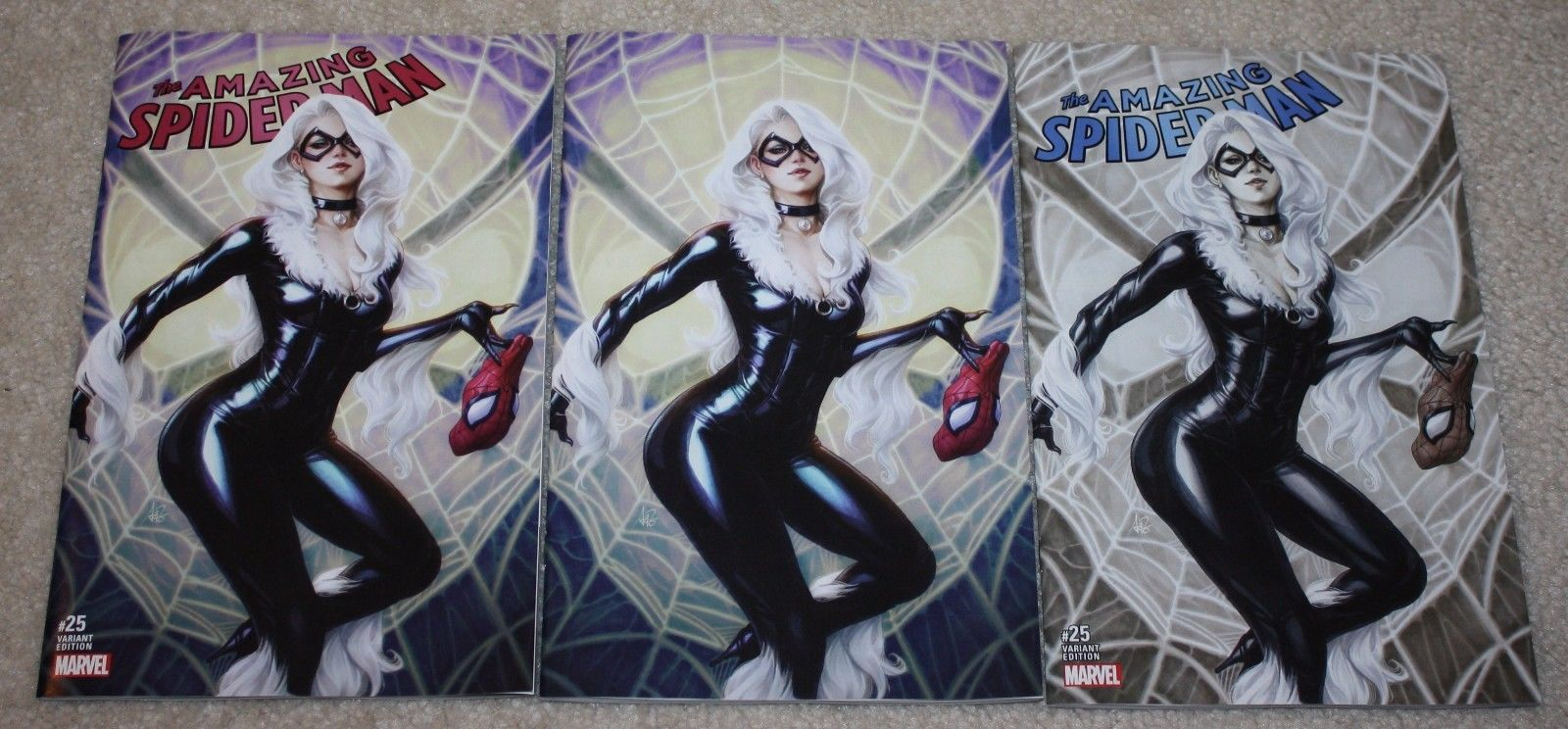 AMAZING SPIDER-MAN #25 ARTGERM BLACK CAT EXCLUSIVE VARIANTS