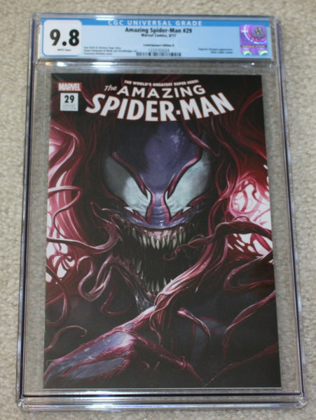 AMAZING SPIDER-MAN #29 CGC 9.8 FRANCESCO MATTINA VENOM MARY JANE LOGO VARIANT-B