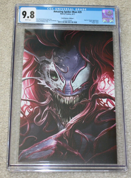 AMAZING SPIDER-MAN #29 CGC 9.8 FRANCESCO MATTINA VENOM MARY JANE VIRGIN VARIANT-C