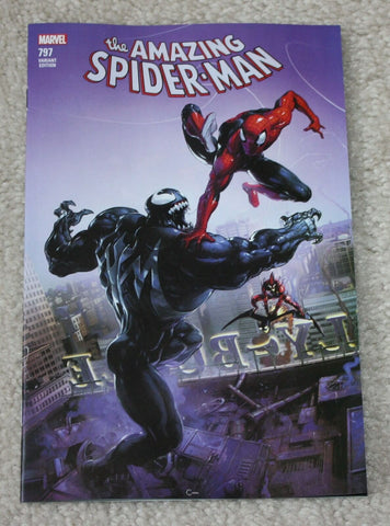AMAZING SPIDER-MAN #797 CLAYTON CRAIN LOGO EXCLUSIVE VARIANT RED GOBLIN VENOM 8.0 - 9.0