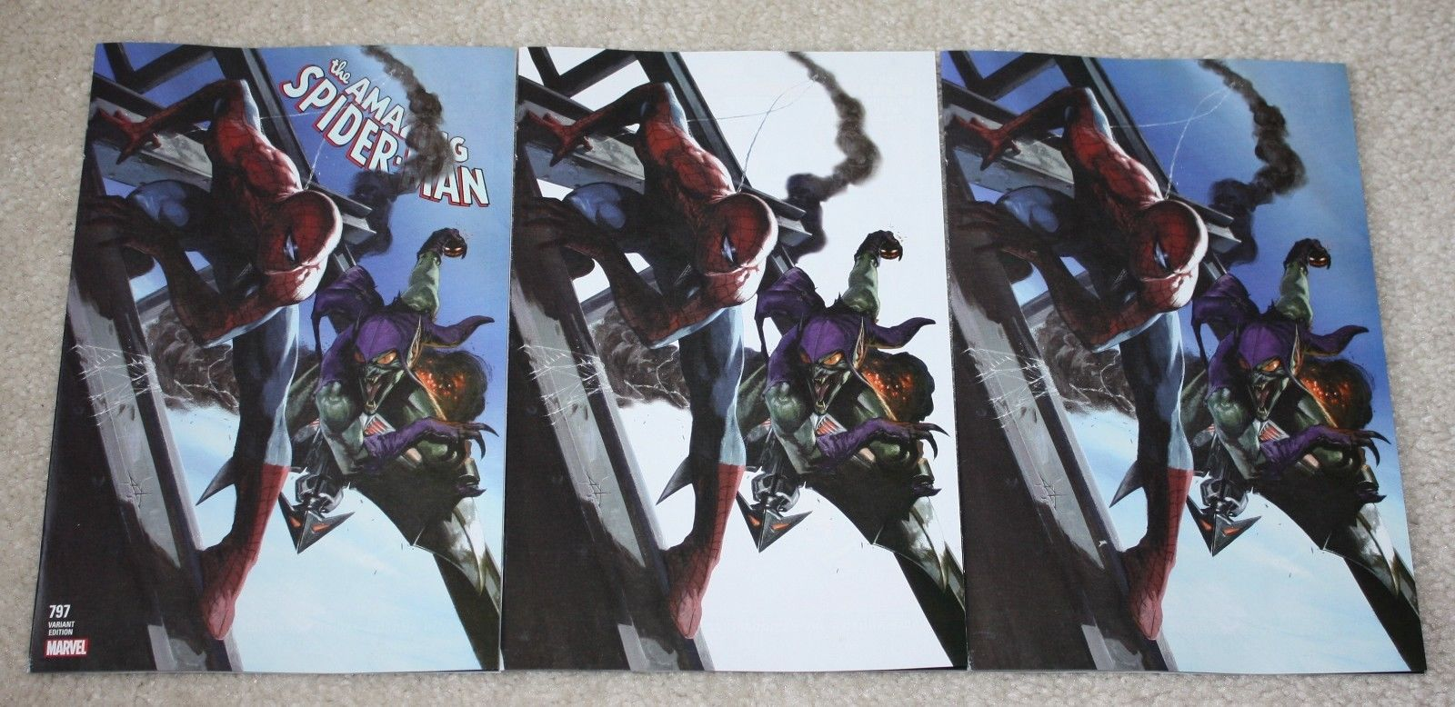 AMAZING SPIDER-MAN #797 GABRIELLE DELL OTTO EXCLUSIVE VARIANT RED GOBLIN 3-PACK