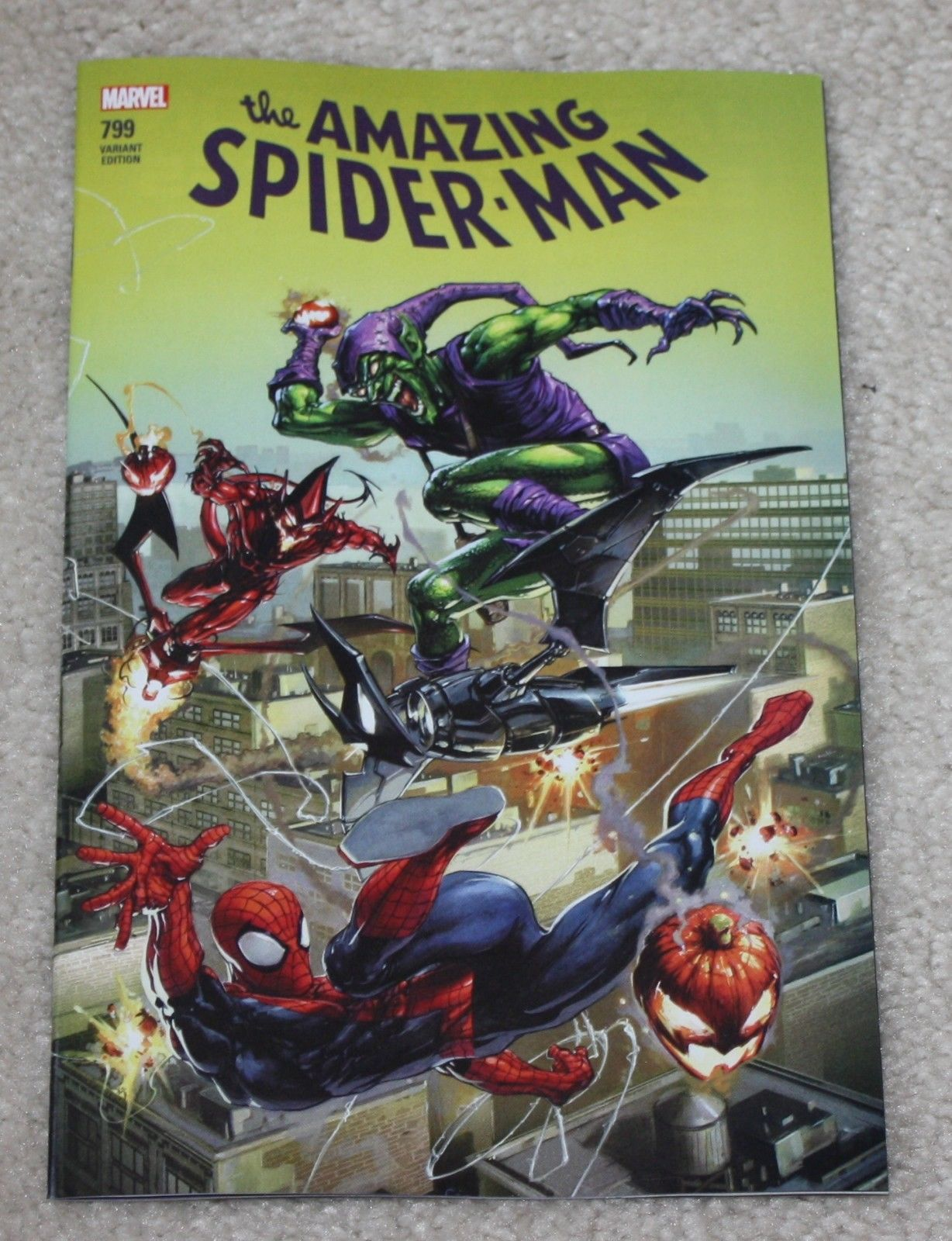 AMAZING SPIDER-MAN #799 CLAYTON CRAIN LOGO EXCLUSIVE VARIANT RED GOBLIN