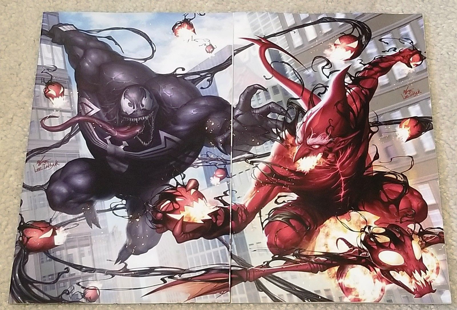 AMAZING SPIDER-MAN #801 VENOM #1 INHYUK LEE VIRGIN EXCLUSIVE VARIANT SET RED GOBLIN