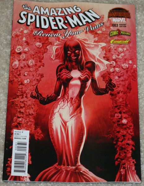 AMAZING SPIDER-MAN RENEW YOUR VOWS #3 MIKE DEODATO VENOM MARY JANE EXCLUSIVE VARIANTS