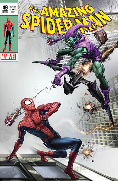Amazing Spider-man 850 49 Clayton Crain Green Goblin Silver Surfer Thor Homage Virgin Variant DC Comics Marvel Comics X-Men Batman East Side Comics Virgin Exclusive cgc signed ss comics