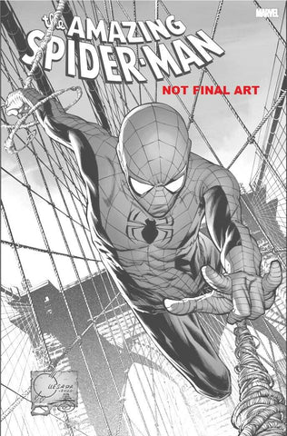 AMAZING SPIDER-MAN #850 (#49) JOE QUESADA 1:100 B&W INCENTIVE RETAILER VARIANT