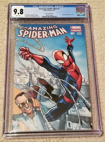AMAZING SPIDER-MAN #1 CGC 9.8 HUMBERTO RAMOS STAN LEE FAN EXPO COLOR VARIANT