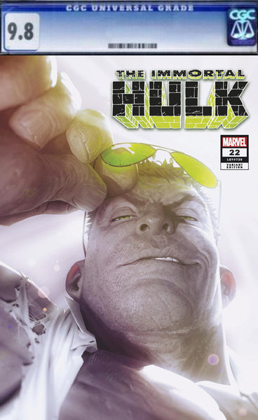 IMMORTAL HULK #22 ALEX GARNER EXCLUSIVE GREY HULK JOE FIXIT TRADE DRESS LOGO VIRGIN VARIANT Incredible Spider-man Marvel Comics Exclusive Green Hulk Red Hulk East Side Comics CGC