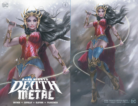 Death Metal Dark 1 Natali Sanders Wonder Woman Virgin Variant DC Comics Marvel Comics X-Men Batman Harley Quinn  East Side Comics Virgin Exclusive cgc signed ss comics