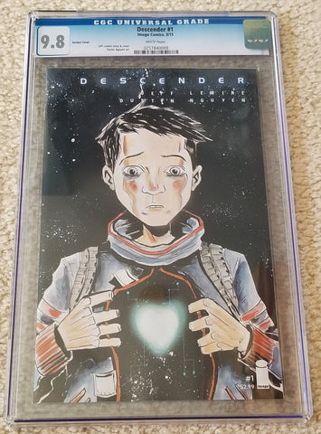 Descender 1 first printing cgc image comics jeff lemire dustin nguyen netflix  tv optioned