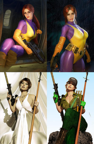 G.I. JOE #274 MIKE MAYHEW & KIRILL REPIN LADY JAYE & SCARLETT VIRGIN VARIANTS (4-PACK)