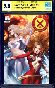 Giant Size X-Men 1 Derrick Chew Emma Frost Phoenix Jean Grey White Queen Variant DC Comics Marvel Comics East Side Comics Comicxposure Exclusive cgc