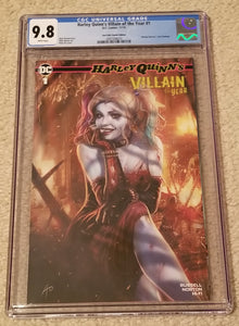 HARLEY QUINN #1 CGC 9.8 VILLAIN OF THE YEAR RUDY AO MARILYN MONROE VARIANT