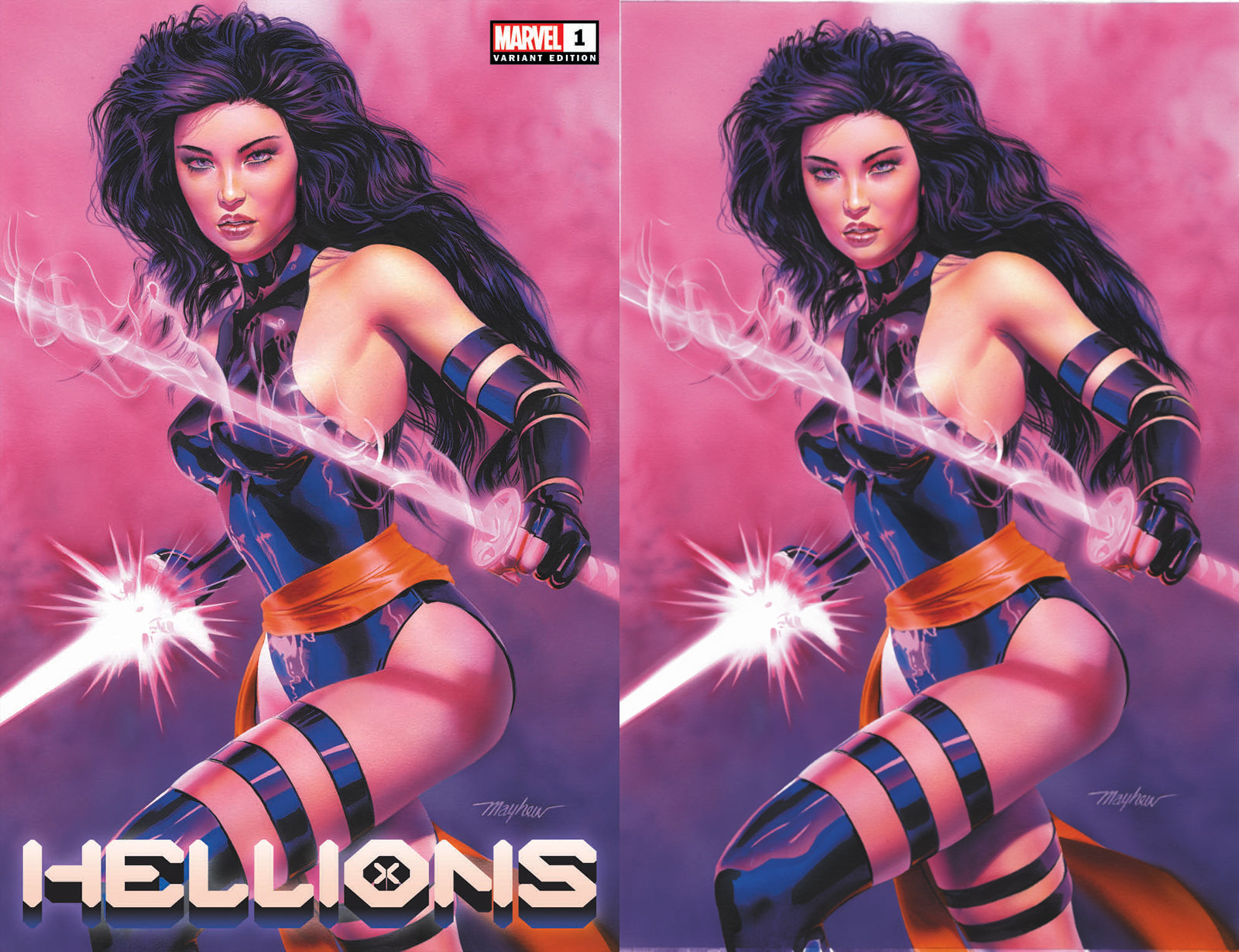 Hellions 1 Mike Mayhew Psylocke Virgin Variant DC Comics Marvel Comics X-Men Venom Spider-man East Side Comics Virgin Exclusive cgc signed ss comics