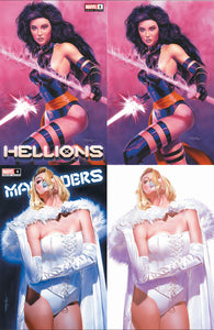 Hellions 1 Marauders 4 Mike Mayhew Psylocke White Queen Virgin Variant DC Comics Marvel Comics X-Men Venom Spider-man East Side Comics Virgin Exclusive cgc ss signed comic