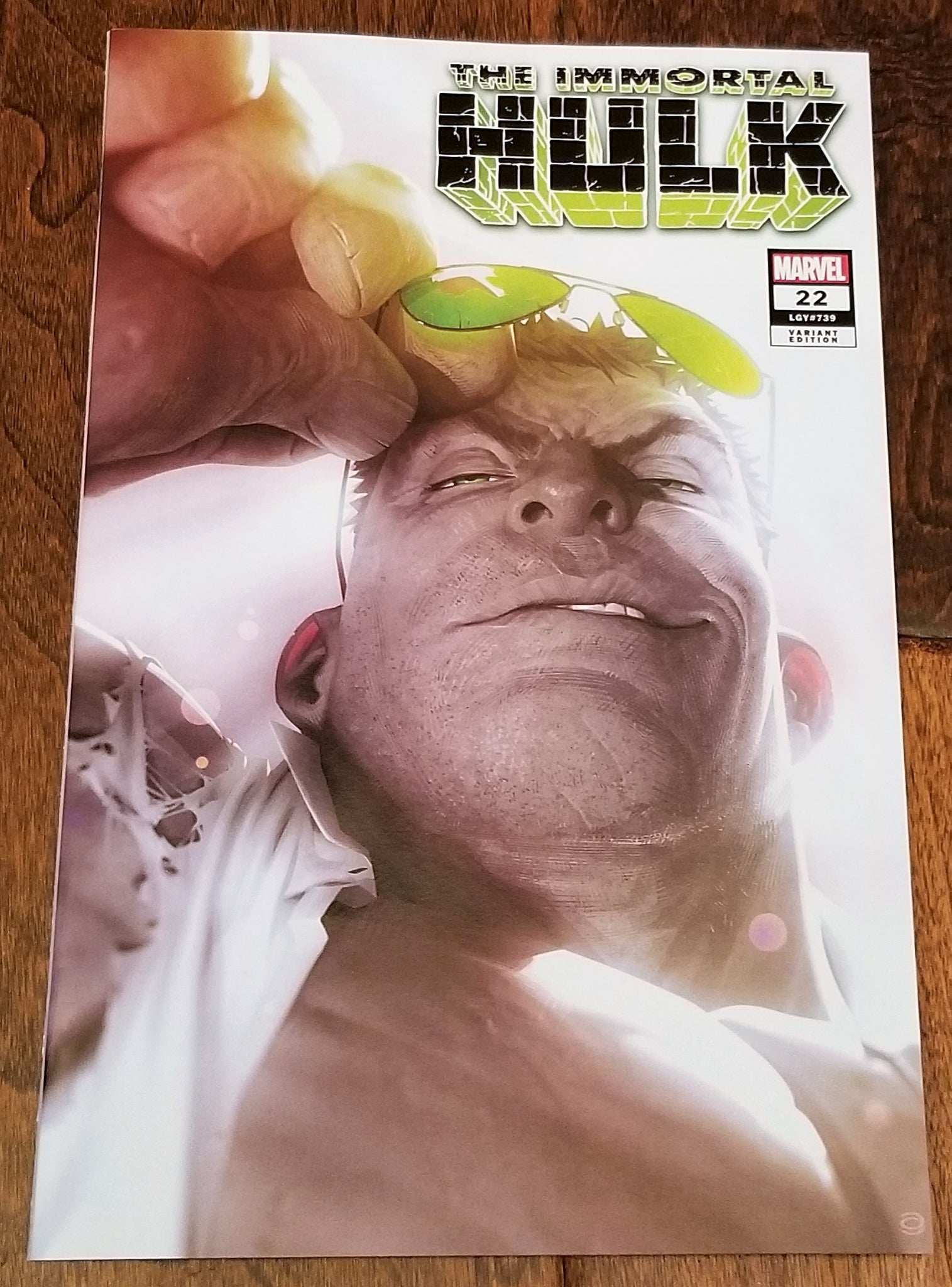 IMMORTAL HULK #22 ALEX GARNER GREY HULK JOE FIXIT LOGO EXCLUSIVE VARIANT 8.0 - 9.0