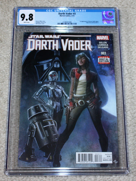 DARTH VADER 3 CGC 9.8 FIRST PRINT 1st APPEARANCE OF DOCTOR APHRA STAR WARS