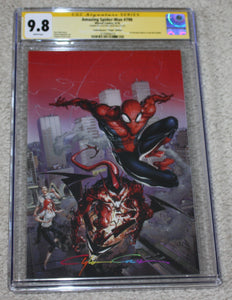 AMAZING SPIDER-MAN #798 CGC SS 9.8 CLAYTON CRAIN INFINITY SIGNED COMICXPOSURE VIRGIN VARIANT