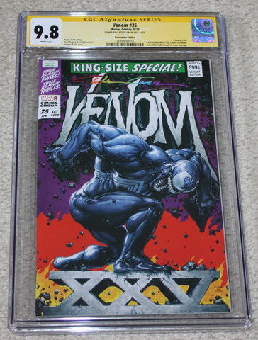 VENOM #25 CGC SS 9.8 CONVENTION SPECIAL VARIANT CLAYTON CRAIN INFINITY SIGNATURE HULK KING SIZE