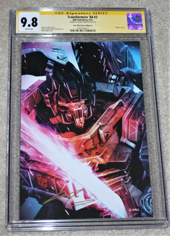 TRANSFORMERS 84 #2 SECRETS & LIES CGC SS 9.8 SIGNED JOHN GIANG GRIMLOCK VIRGIN VARIANT