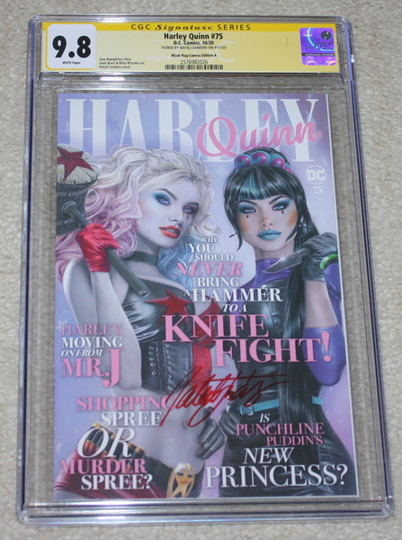 Harley Quinn 75 Natali Sanders Punchline Anniversary Batman Variant DC Comics Marvel Comics X-Men East Side Comics Virgin Exclusive cgc signed ss comics
