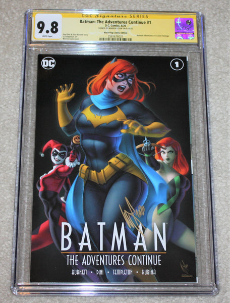 BATMAN THE ADVENTURES CONTINUE #1 CGC SS 9.8 SIGNED WARREN LOUW HARLEY QUINN #12 HOMAGE VARIANT-A