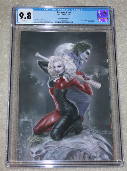 Batman 100 Detective 1000 Natali Sanders Harley Quinn Joker Anniversary Virgin Variant DC Comics Marvel Comics X-Men Batman East Side Comics Virgin Exclusive cgc signed ss comics