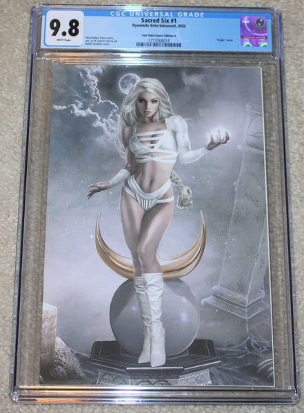 Sacred Six 1 NYX Vampirella Natali Sanders Kirill Repin Dynamite Virgin Variant DC Comics Marvel Comics X-Men Batman Harley Quinn  East Side Comics Virgin Exclusive cgc signed ss comics