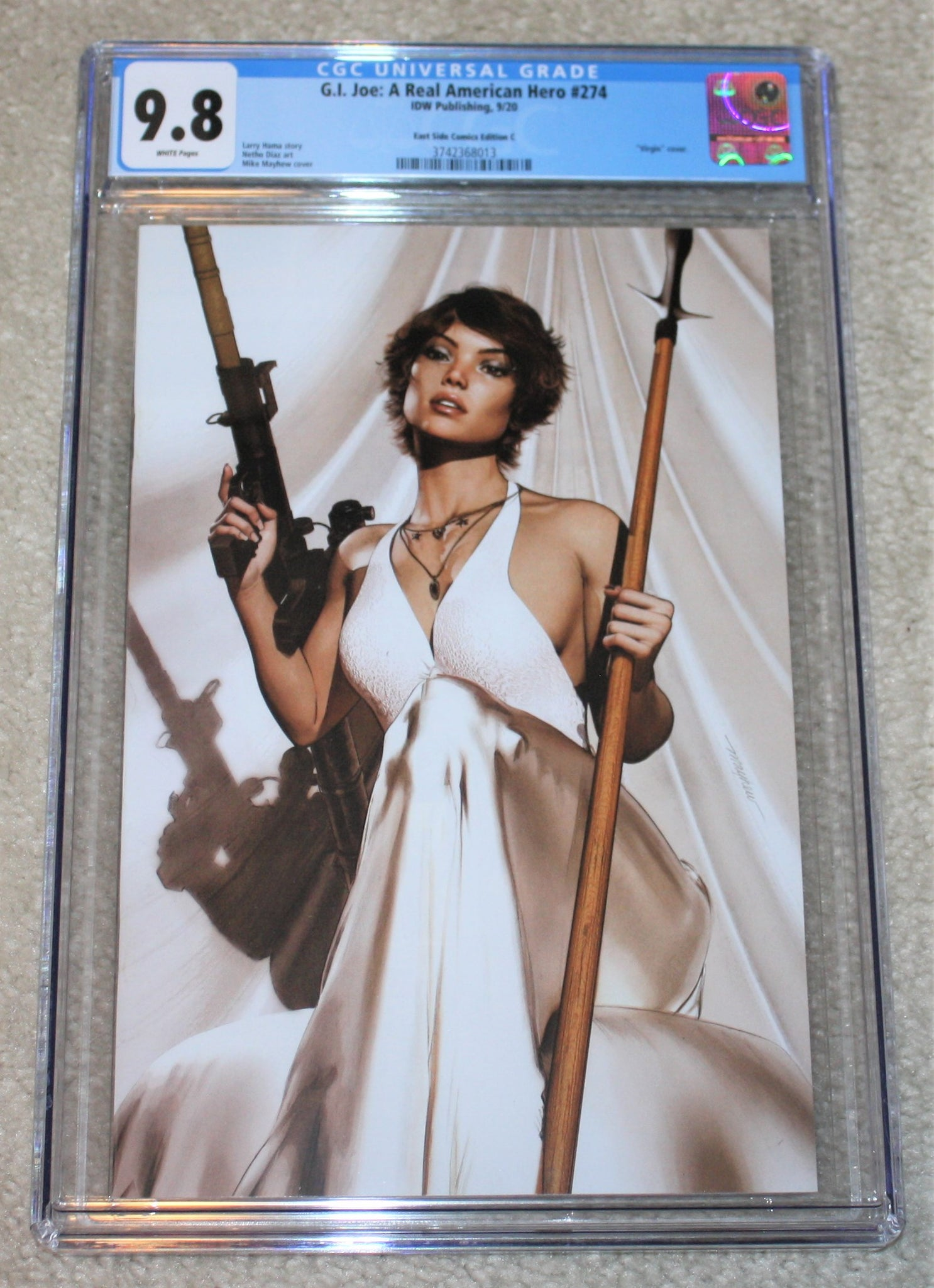 G.I. JOE 274 Mike Mayhew Kirill Repin Scarlett Lady Jaye Baroness Snake-Eyes Storm Shadow IDW Virgin Variant DC Comics Marvel Comics X-Men Batman Harley Quinn  East Side Comics Virgin Exclusive cgc signed ss comics