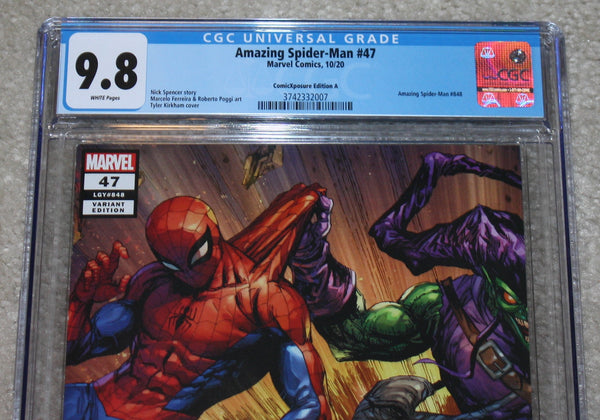 Amazing Spider-man 47 Tyler Kirkham Interlocking Green Goblin Red Goblin Kindred Virgin Variant DC Comics Marvel Comics X-Men Batman East Side Comics Virgin Exclusive cgc signed ss comics