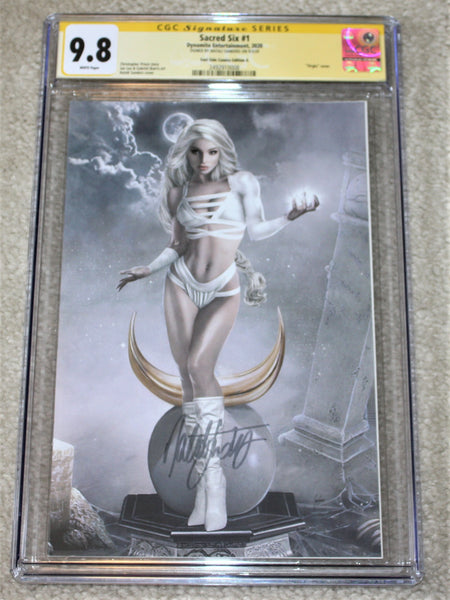 SACRED SIX #1 CGC SS 9.8 NATALI SANDERS SIGNED NYX VIRGIN EXCLUSIVE VARIANT