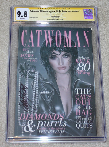 CATWOMAN 80th ANNIVERSARY #1 CGC SS 9.8 SIGNED BY NATALI SANDERS VARIANTS