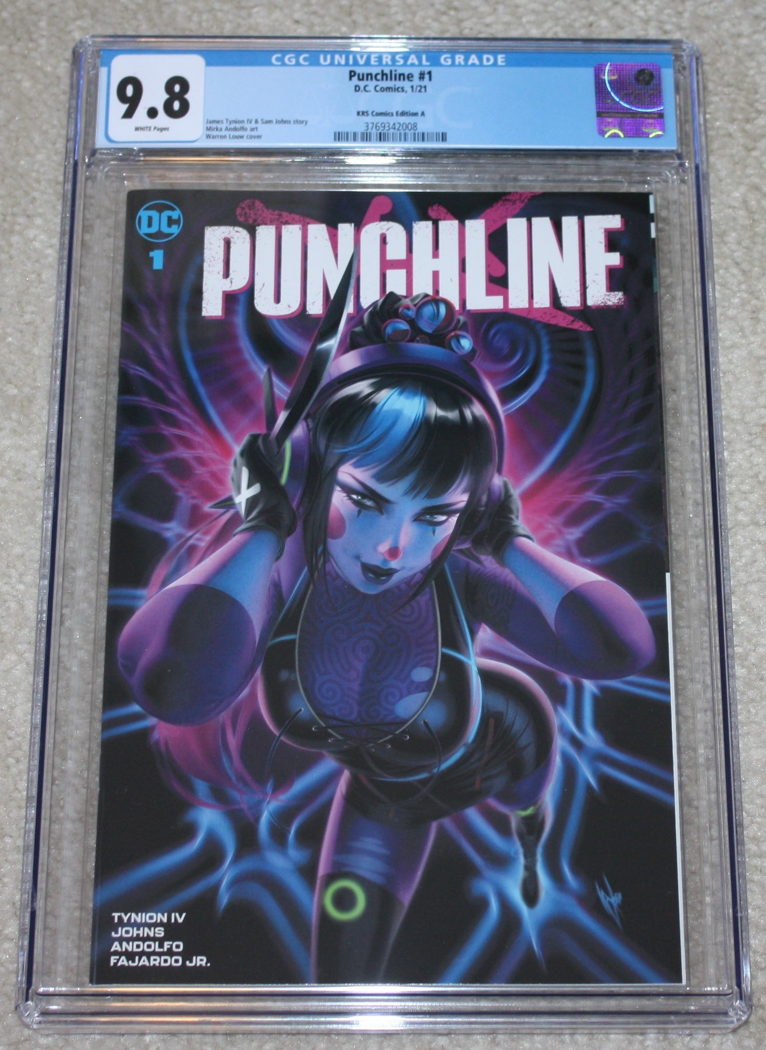 Punchline 1 Harley Quinn Warren Louw Batman Variant DC Comics Marvel Comics X-Men East Side Comics Virgin Exclusive cgc signed ss comics