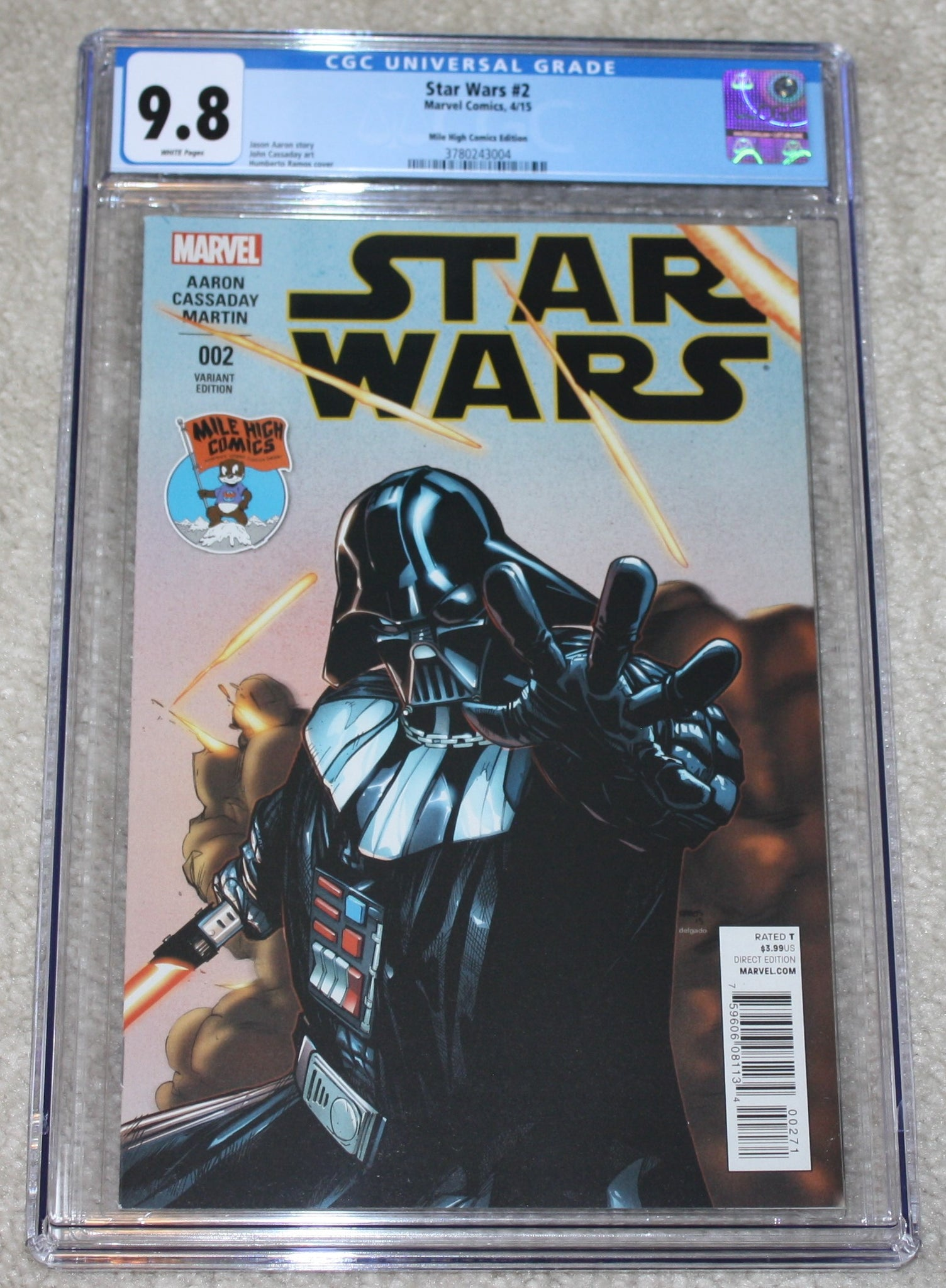 STAR WARS 2 CGC 9.8 HUMBERTO RAMOS DARTH VADER MILE HIGH CONNECTING VARIANT