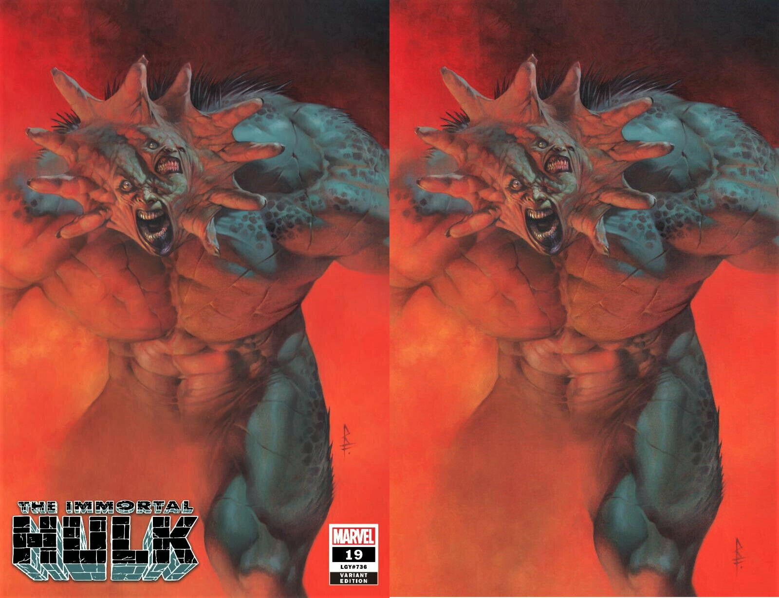 IMMORTAL HULK #19 RICCARDO FEDERICI EXCLUSIVE NEW ABOMINATION VIRGIN VARIANTS IMMORTAL Incredible Spider-man Marvel Comics Exclusive Green Hulk Red Hulk East Side Comics CGC