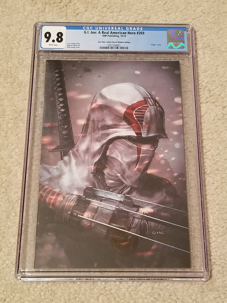 G.I. Joe ARAH 269 John Giang Snake-Eyes Storm Shadow Virgin Variant IDW Comics DC Comics Marvel Comics East Side Comics Comicxposure Exclusive CGC GI
