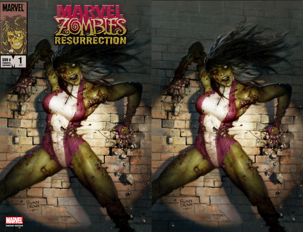 Marvel Zombies Resurrection 1 Ryan Brown She-Hulk Amazing Spider-man Kindred Virgin Variant DC Comics Marvel Comics X-Men Batman East Side Comics Virgin Exclusive cgc signed ss comics