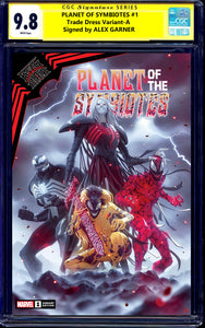 PLANET OF THE SYMBIOTES #1 CGC SS 9.8 ALEX GARNER SIGNED VENOM KNULL EXCLUSIVE VARIANTS