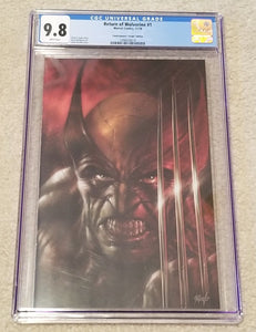 RETURN OF WOLVERINE #1 CGC 9.8 LUCIO PARRILLO VIRGIN VARIANT