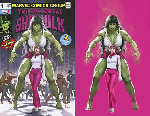 Immortal She-Hulk 1 Inhyuk Lee Homage Hulk Incredible Amazing Spider-man Virgin Variant DC Comics Marvel Comics X-Men Batman East Side Comics Virgin Exclusive cgc signed ss comics