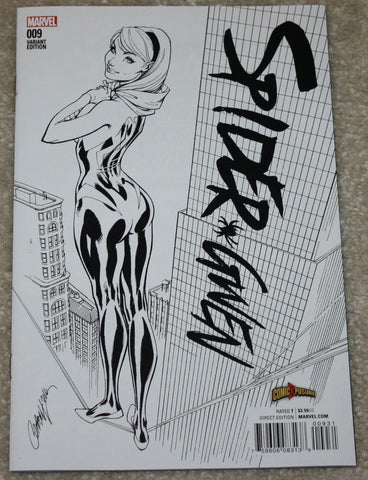 SPIDER-GWEN #9 J. SCOTT CAMPBELL B&W EXCLUSIVE VARIANT