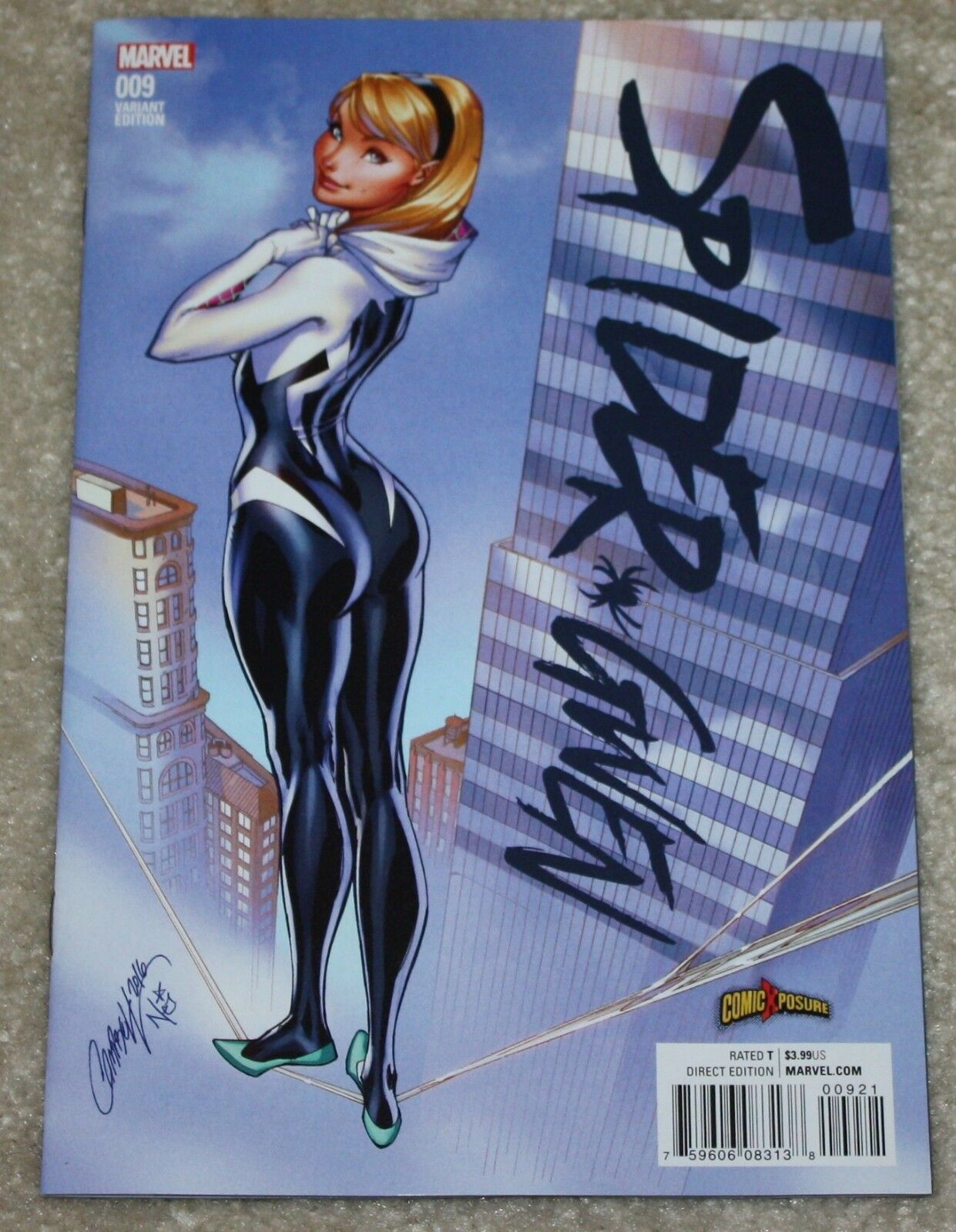 SPIDER-GWEN #9 J. SCOTT CAMPBELL COLOR EXCLUSIVE VARIANT