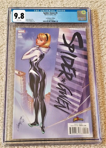 SPIDER-GWEN #9 CGC 9.8 J SCOTT CAMPBELL COLOR VARIANT