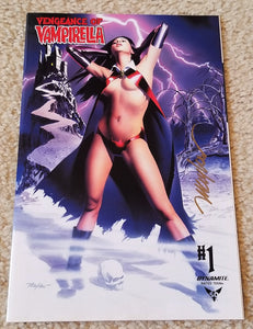 VENGEANCE OF VAMPIRELLA #1 MIKE MAYHEW SIGNED STUDIO LOGO & VIRGIN VARIANTS
