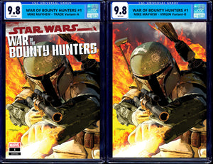 STAR WARS WAR OF THE BOUNTY HUNTERS #1 CGC 9.8 MIKE MAYHEW TRADE & VIRGIN VARIANTS