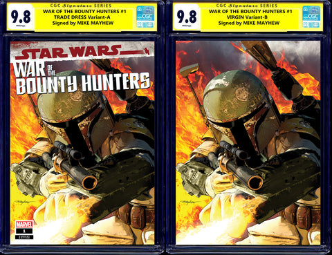 Star Wars 13 War of the Bounty Hunters Alpha 1 Mike Mayhew Boba Fett Darth Vader Skywalker Virgin Variant DC Comics Marvel Comics X-Men Batman East Side Comics Virgin Exclusive cgc signed ss comics