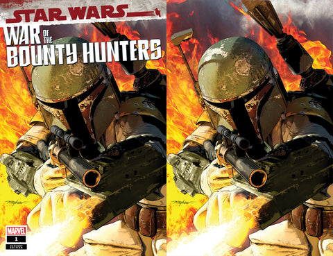 STAR WARS WAR OF THE BOUNTY HUNTERS #1 MIKE MAYHEW TRADE DRESS & VIRGIN VARIANTS
