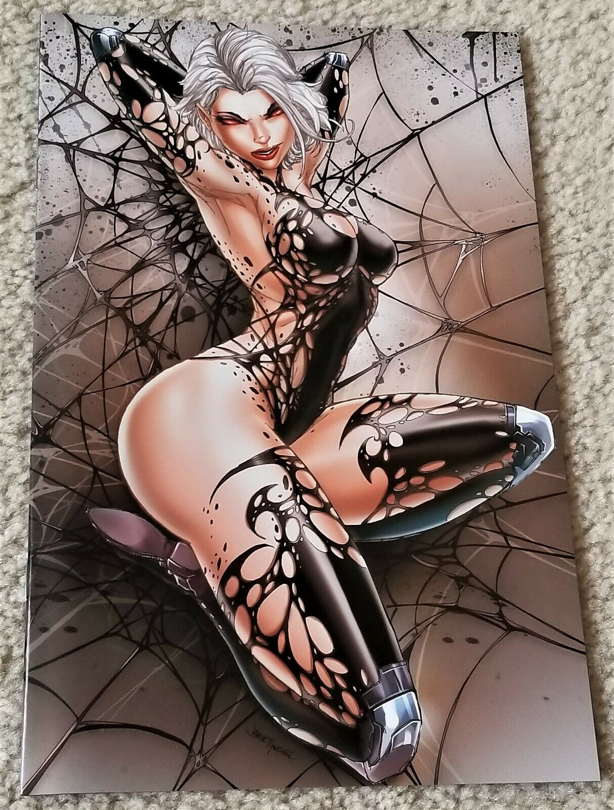 WHITE WIDOW #1 JAMIE TYNDALL 2nd PRINT NAUGHTY VARIANT 200 Pt RUN 8.0 - 9.0