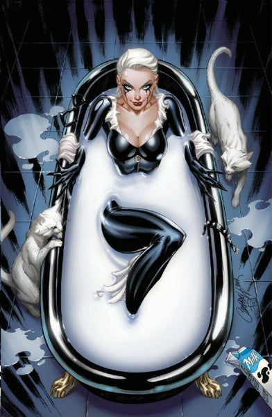 BLACK CAT #1 J SCOTT CAMPBELL Bathtub SDCC CONVENTION EXCLUSIVE VIRGIN VARIANT Marvel Comics Spider-man Venom East Side Comics CGC
